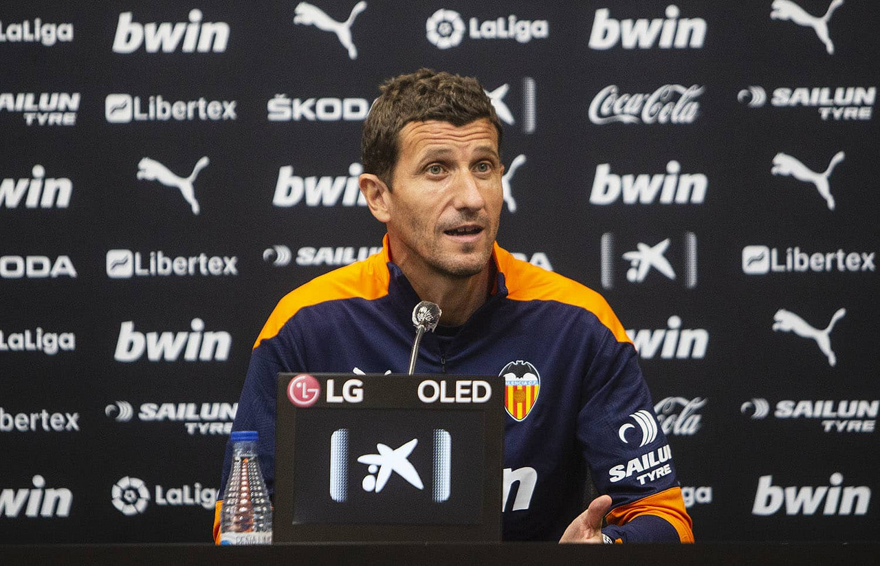 Javi Gracia en Rueda de prensa | Foto: Valencia CF