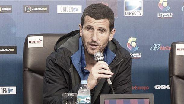"""Javi Gracia: """"Estoy satisfecho con el resultado y con el buen partido de los jugadores"""""""