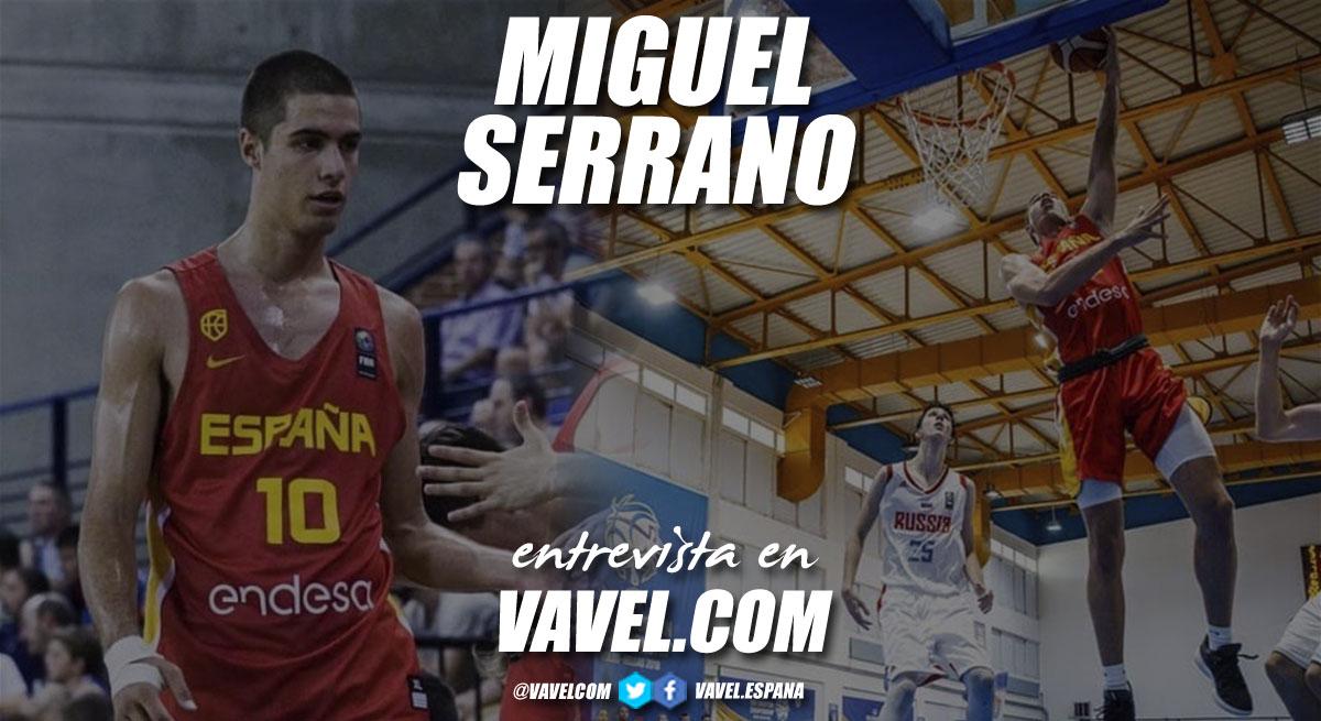"""Entrevista. Miguel Serrano: """"Me describiría como un jugador con mucha energía, muy trabajador y que lo deja todo en la cancha"""""""
