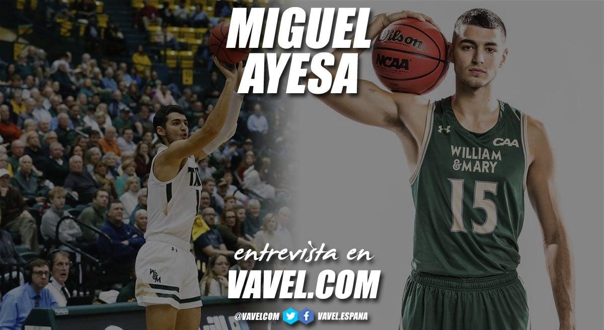 """Entrevista. Miguel Ayesa: """"En la NCAA el ritmo de viajes y partidos es brutal"""""""