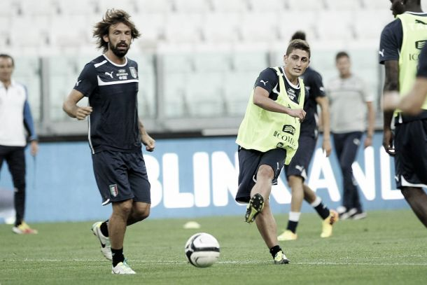 Pirlo and Veratti miss Azzurri training ahead of Norway tie