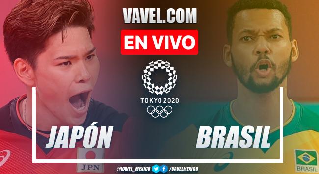Resumen: Japón 0-3 Brasil en Cuartos de Final de Voleibol Varonil por Juegos Olímpicos 2020