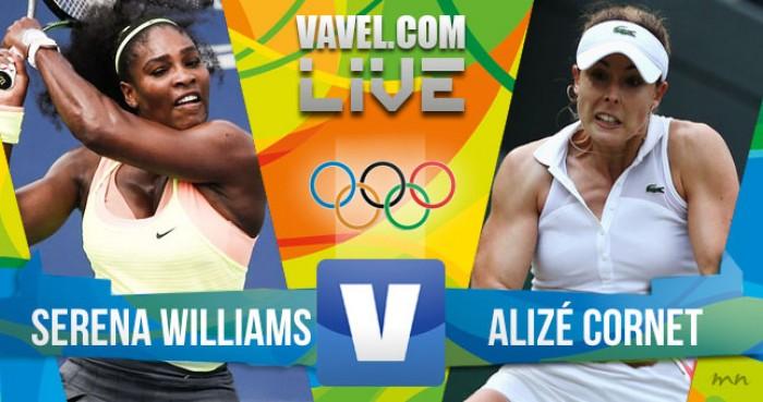 Serena Williams vence Alizé pelo tênis feminino na Rio 2016 (2-0)