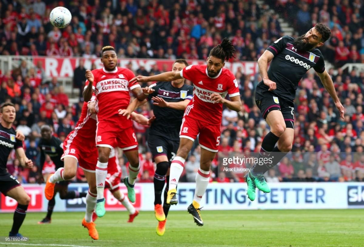 Middlesbrough 0-1 Aston Villa: Jedinak header gives Villa advantage over Boro