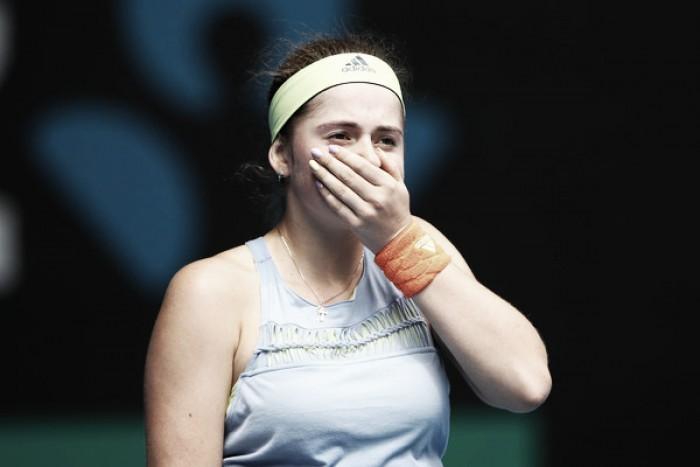 El Open de Australia continúa siendo esquivo para Jelena Ostapenko