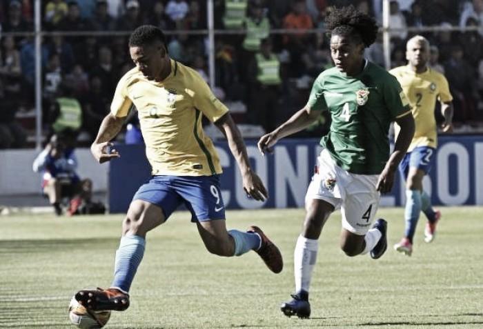 Gabriel Jesus elogia garra brasileira diante da Bolívia fora de casa