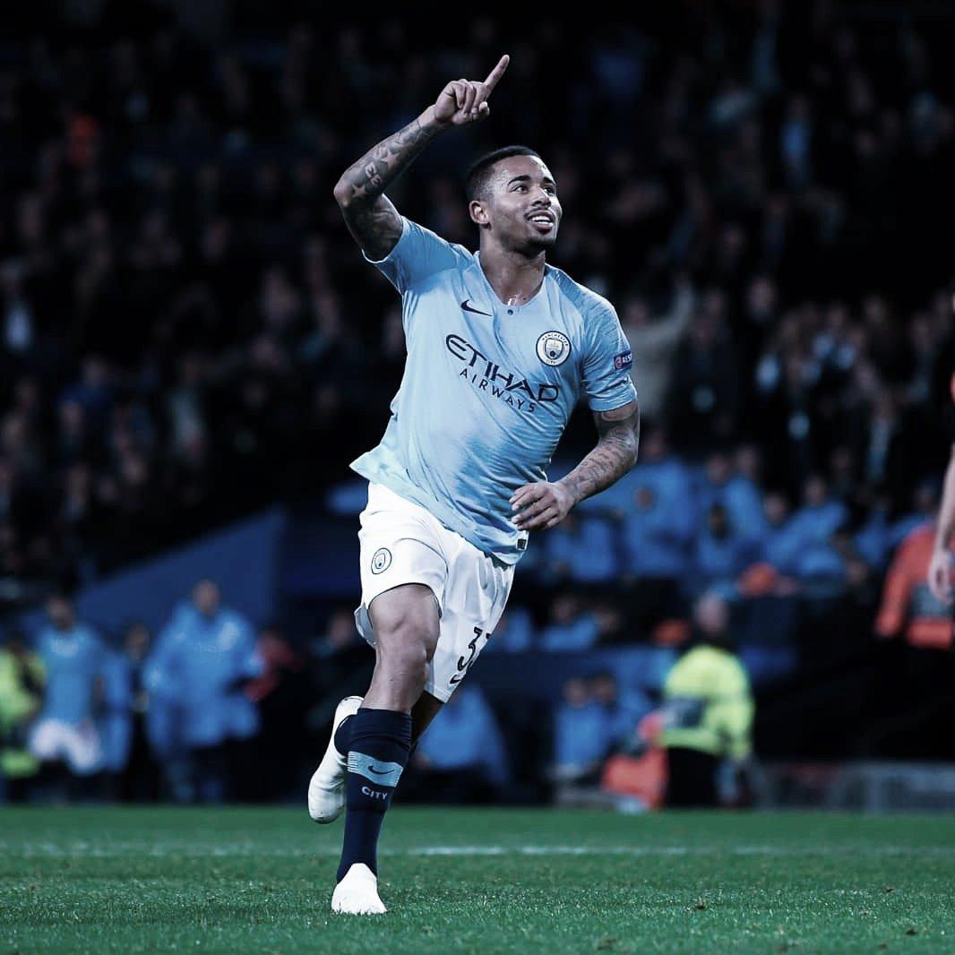 Comhat-trick de Gabriel Jesus, Manchester City passeia sobre o Shakhtar
