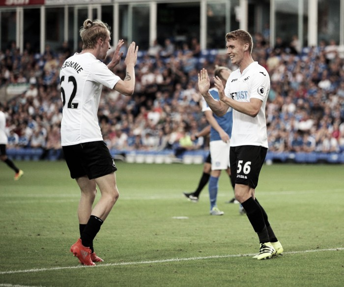 Peterborough United 1-3 Swansea City: McBurnie brace books Swans' spot in next round