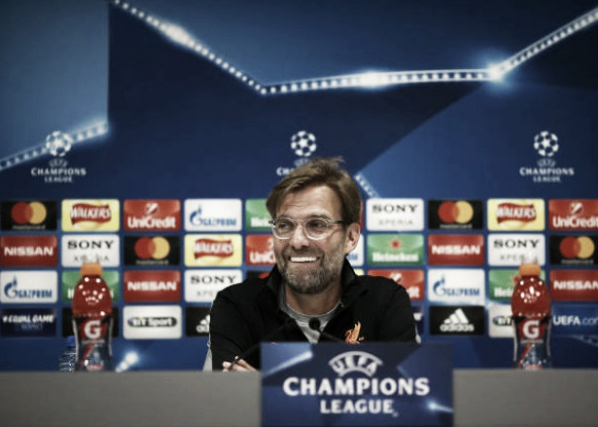 Klopp rejeita rótulo de azarão do Liverpool na UCL:''Estamos aqui porque merecemos''