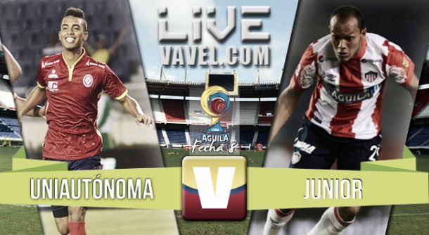 Resultado Uniautónoma - Junior en la Liga Águila II 2015(2-3)