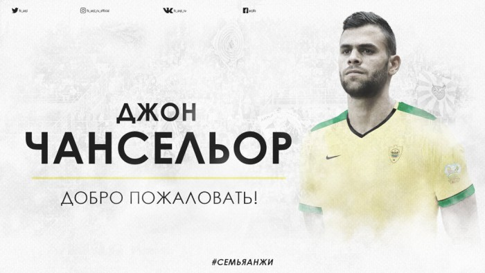Jhon Chancellor es presentado en el FK Anzhí Majachkalá