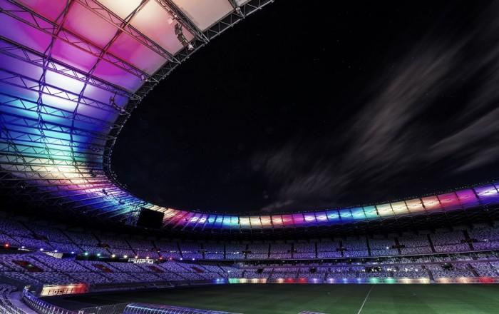 Em homenagem ao dia do orgulho LGBT, Mineirão é iluminado com cores do movimento