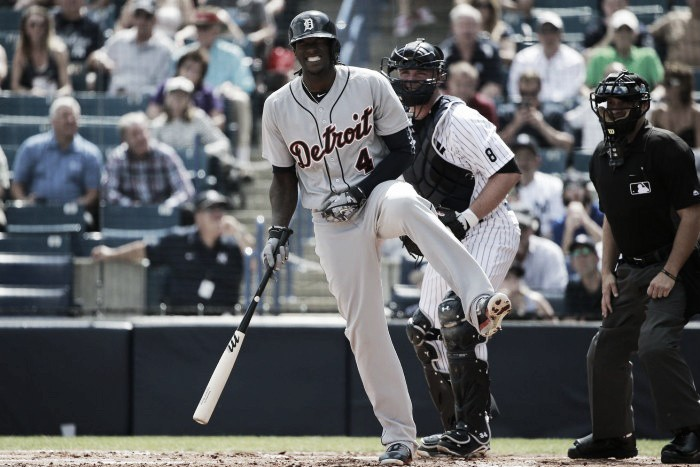 Detroit Tigers recall injury rehab assignment of outfielder Cameron Maybin
