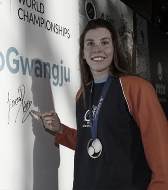 Jimena Pérez consigue subirse al pódium en la tercera jornada de la FINA World Cup de Berlín