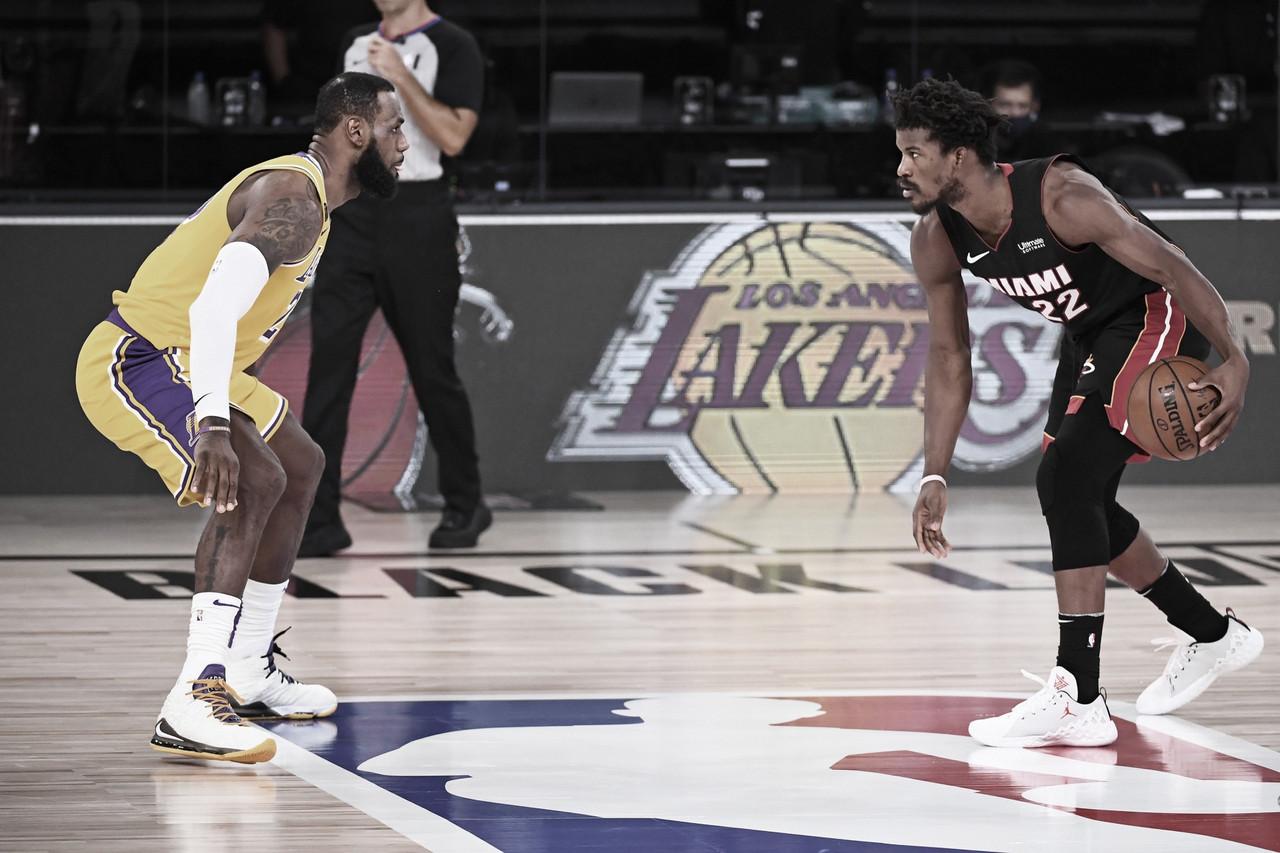 """Jimmy Butler fala sobre sua lesão no primeiro jogo da final da NBA: """"Estarei bem"""""""