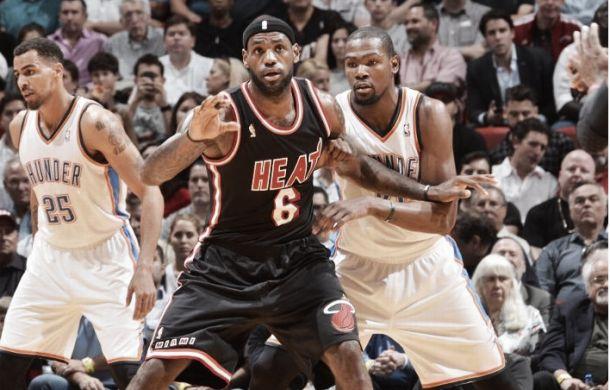 Durant y los Thunder golpean la NBA en Miami