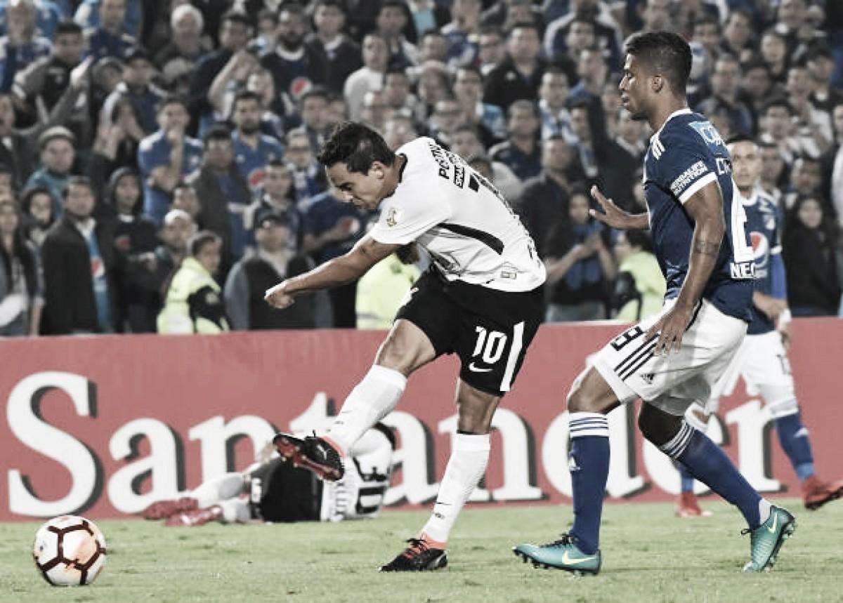 Resultado Corinthians x Millonarios-COL pela Copa Libertadores da América 2018 (0-1)