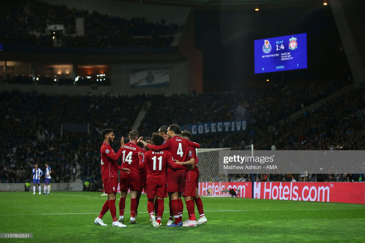 FC Porto 1-4 Liverpool: Reds cruise into semi-final bout with Barcelona as Klopp maintains his perfect European knockout record