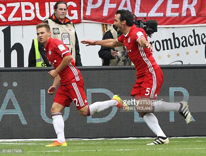 Eintracht Frankfurt 2-2 Bayern Munich: 10-man Frankfurt fight-back to earn a draw