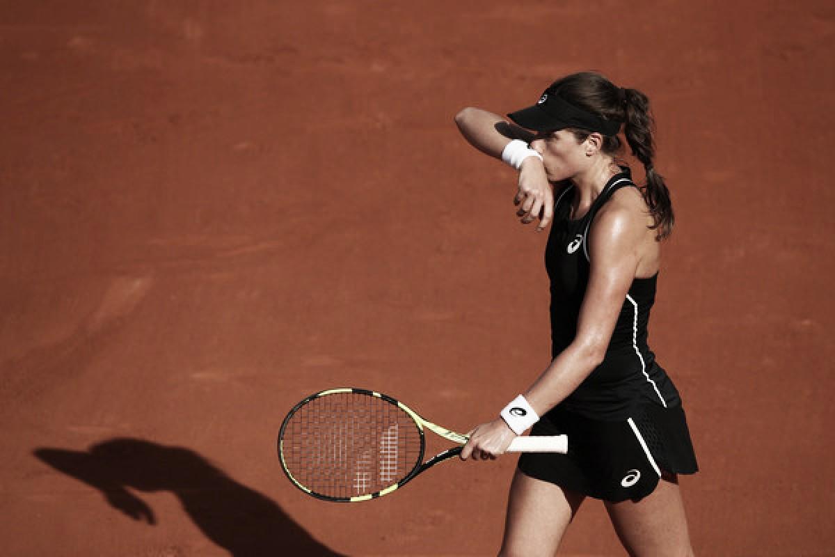 Konta se queda en la primera ronda de Roland Garros