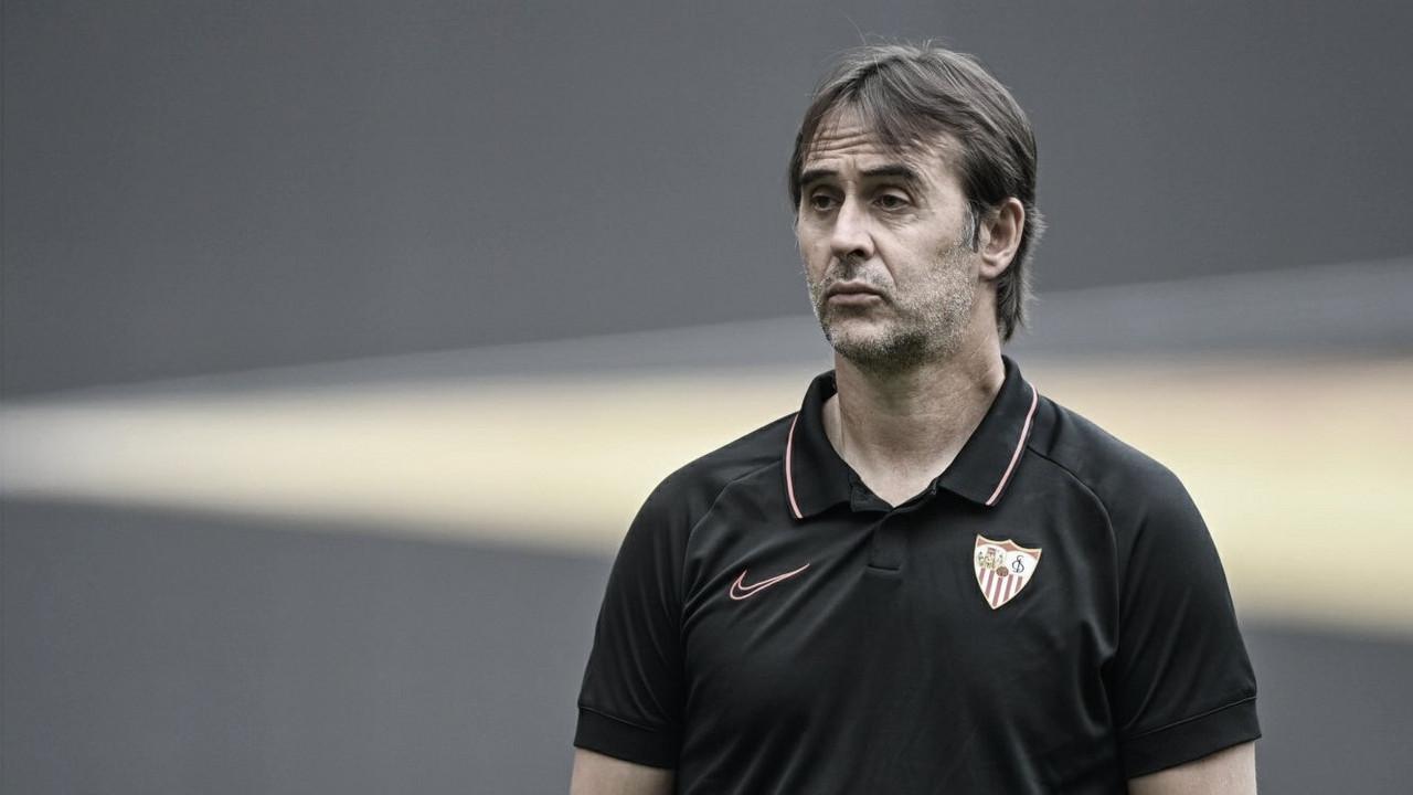 Julen Lopetegui ha tenido gran parte de culpa de la derrota del Sevilla. Foto:
