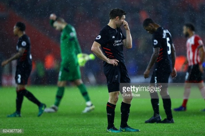 Southampton 0-0 Liverpool: Reds' player ratings after frustrating afternoon