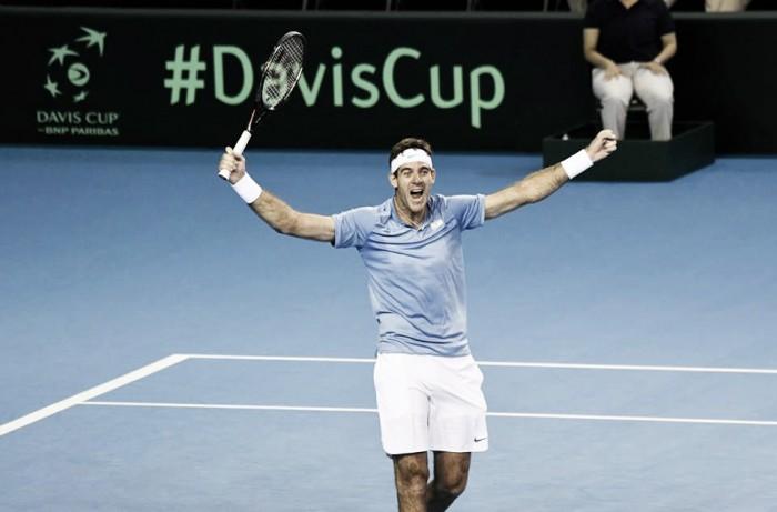 Davis Cup, l'Argentina vola con Del Potro e Pella. Croazia e Francia sull'1-1
