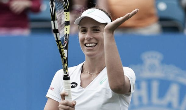 US Open 2015: Jo Konta storms to victory