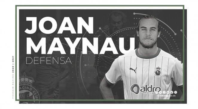 Joan Maynau nuevo fichaje del Racing. Fotografía: Real Racing Club