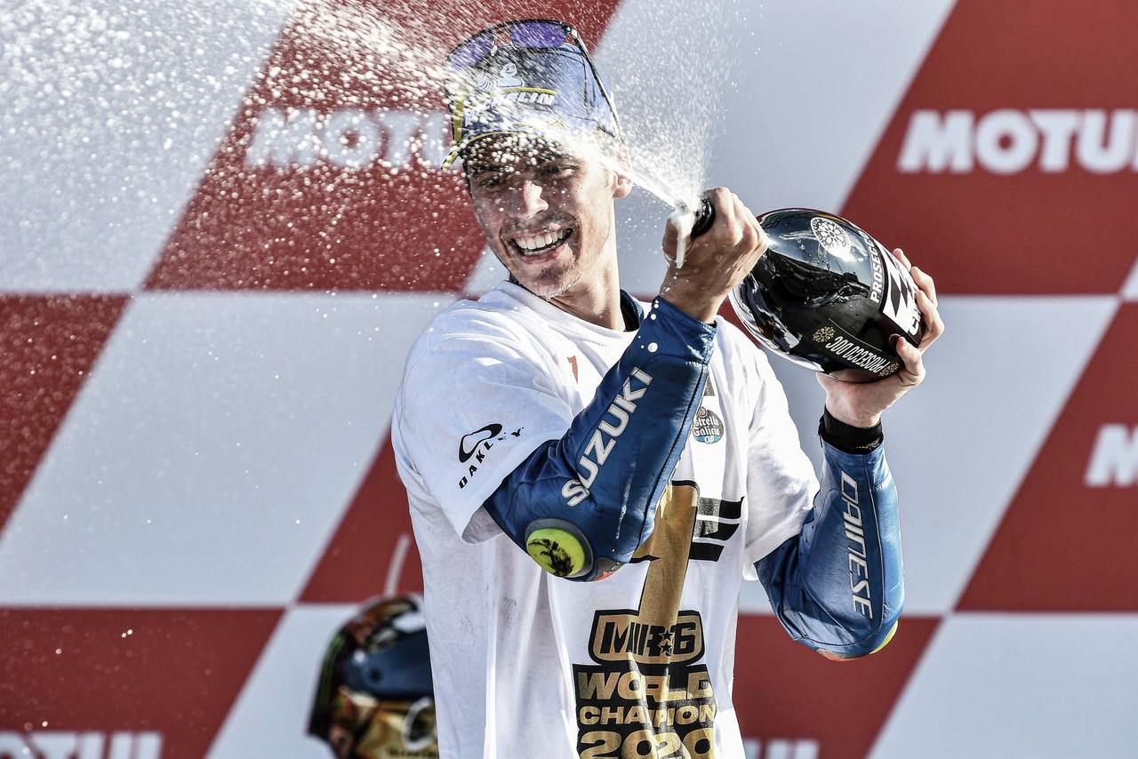 <div>Joan Mir se proclamó campeón en el Gran Premio de la Comunitat Valenciana.</div>Imagen: MotoGP