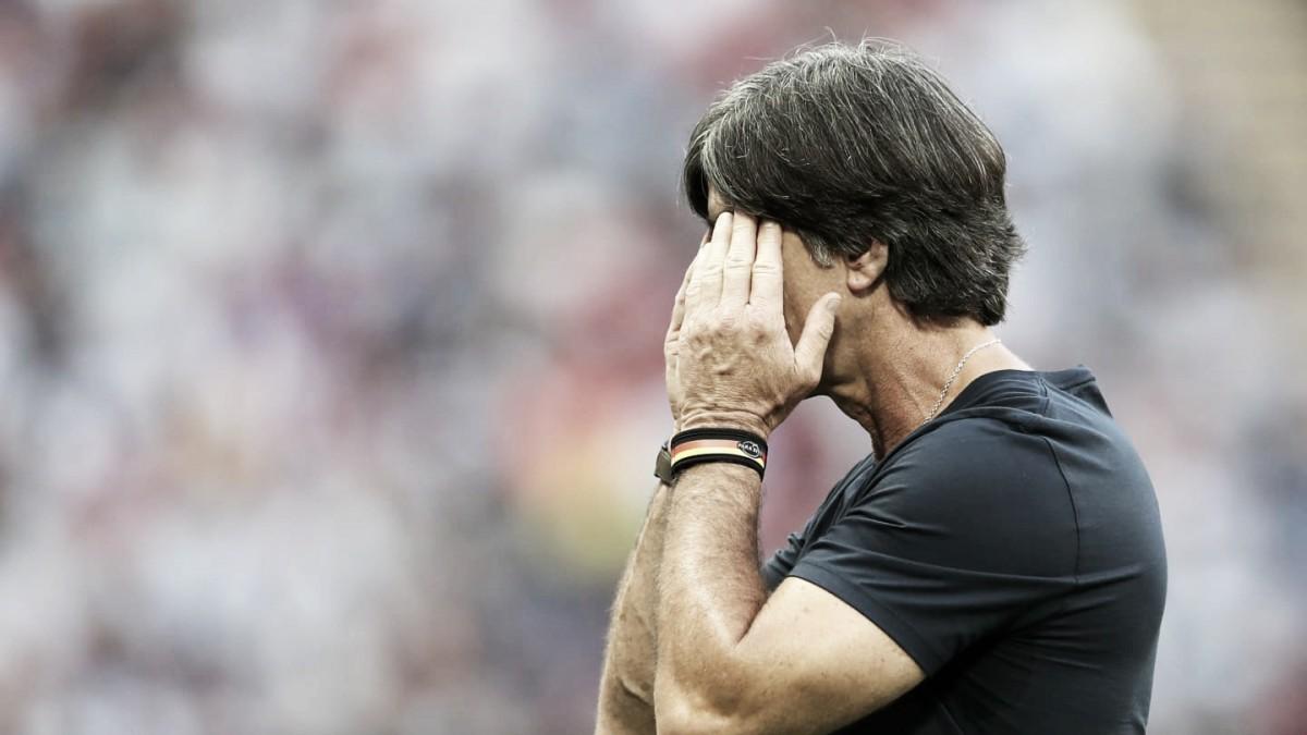 """Após eliminação, Joachim Löw cita falta de merecimento da Alemanha: """"Decepção enorme"""""""