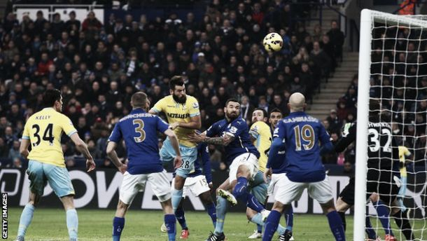 Leicester City 0-1 Crystal Palace: Ledley header enough to see off Foxes