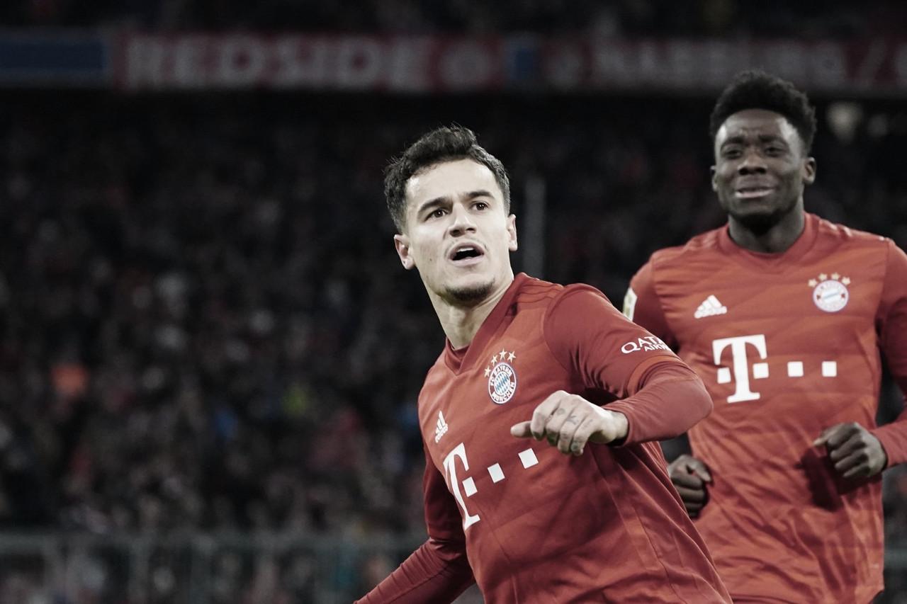 Com show de Coutinho, Bayern de Munique atropela Werder Bremen dentro daAllianz Arena