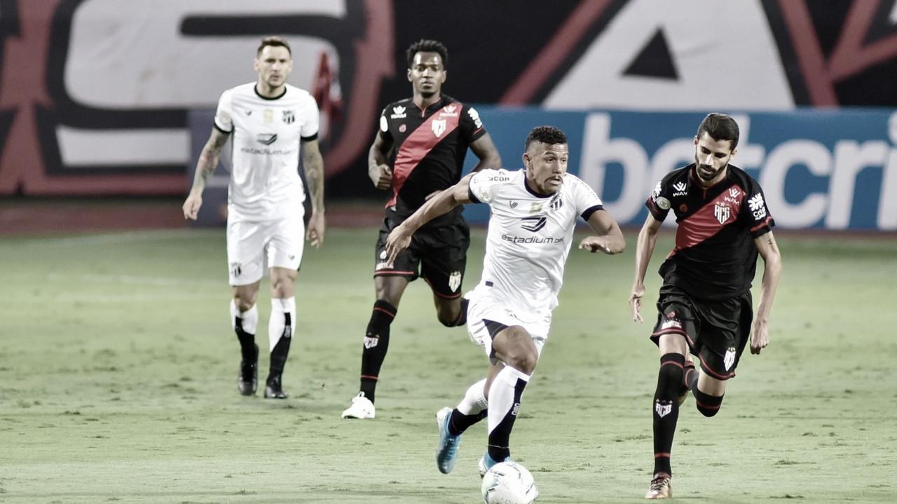 Qualidade técnica individual resolve, e Ceará vence Atlético-GO