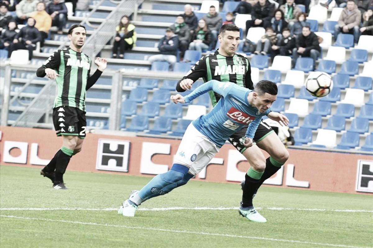 Napoli empata com Sassuolo fora de casa e volta a se complicar na luta pelo título da Serie A