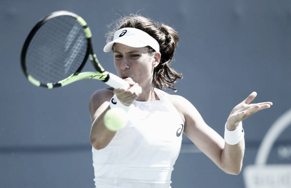 WTA Rogers Cup: Johanna Konta ousts Jelena Ostapenko in three sets