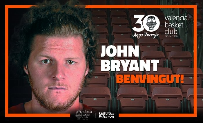 John Bryant, potencia interior para el Valencia Basket
