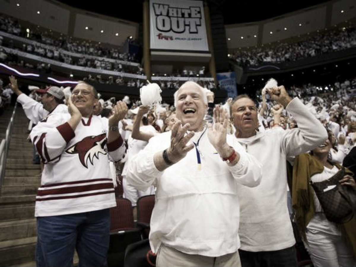 John McCain: Huge Arizona Coyotes fan