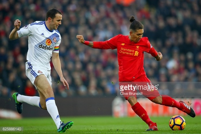 John O'Shea urges Sunderland to see positives in Liverpool defeat