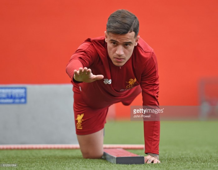 Philippe Coutinho returns to Liverpool training but won't play against City