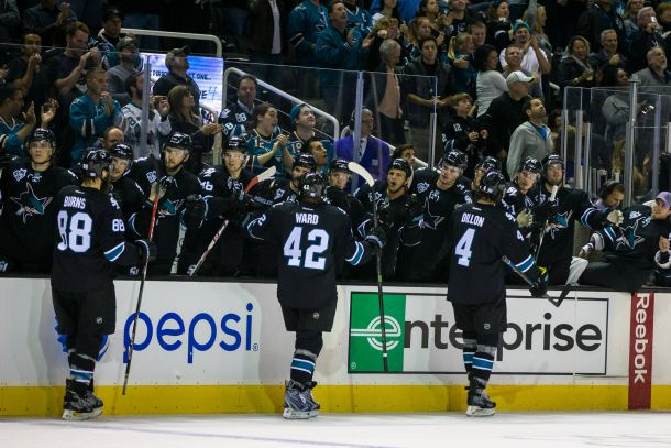Joel Ward Powers San Jose Sharks Past Carolina Hurricanes