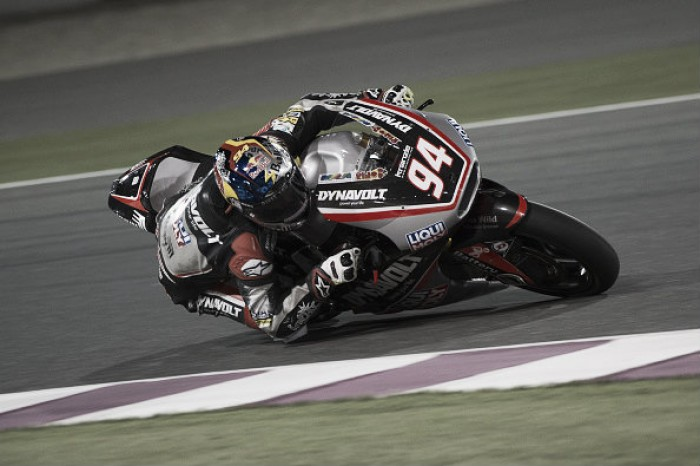 Jonas Folger front of the grid for Moto2 season opener inQatar