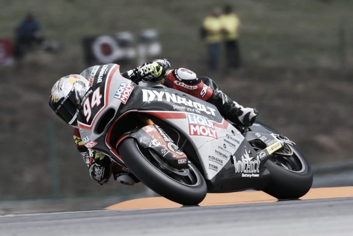 Folger wins a sodden race in Moto2