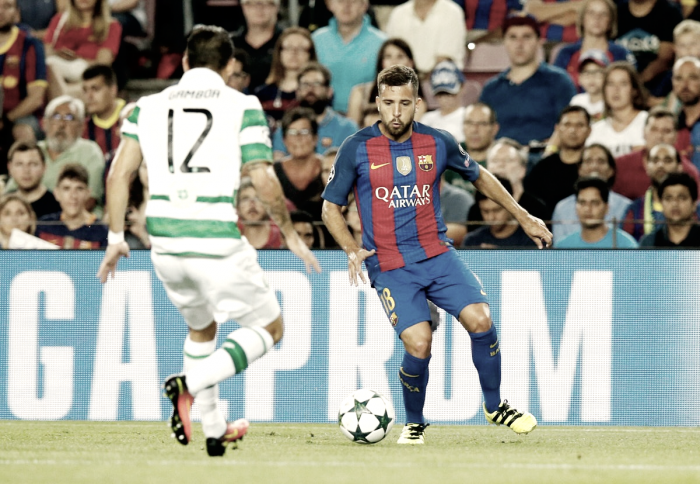 """Jordi Alba commenta la partenza di Neymar: """"Ora ho più spazio per salire, è meglio per me"""""""