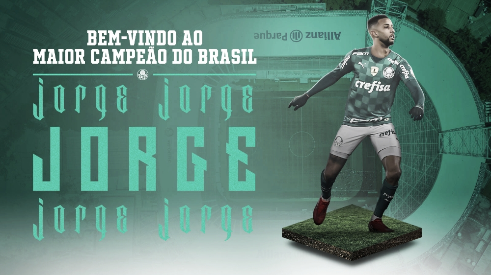 Palmeiras anuncia a contratação de Jorge, ex-Mônaco