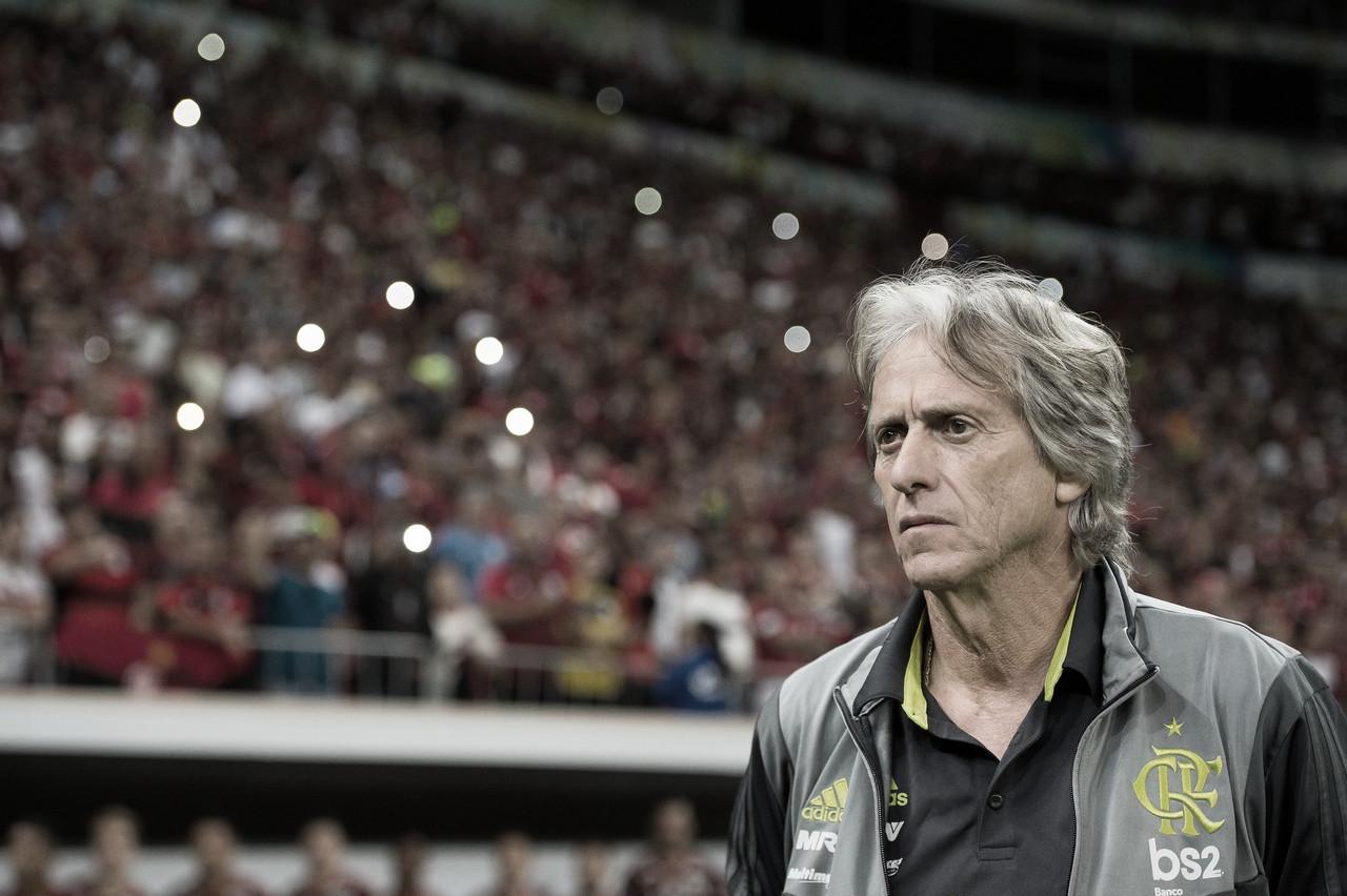 """Após goleada, Jorge Jesus se anima em coletiva: """"Flamengo tem tudo para dar certo"""""""