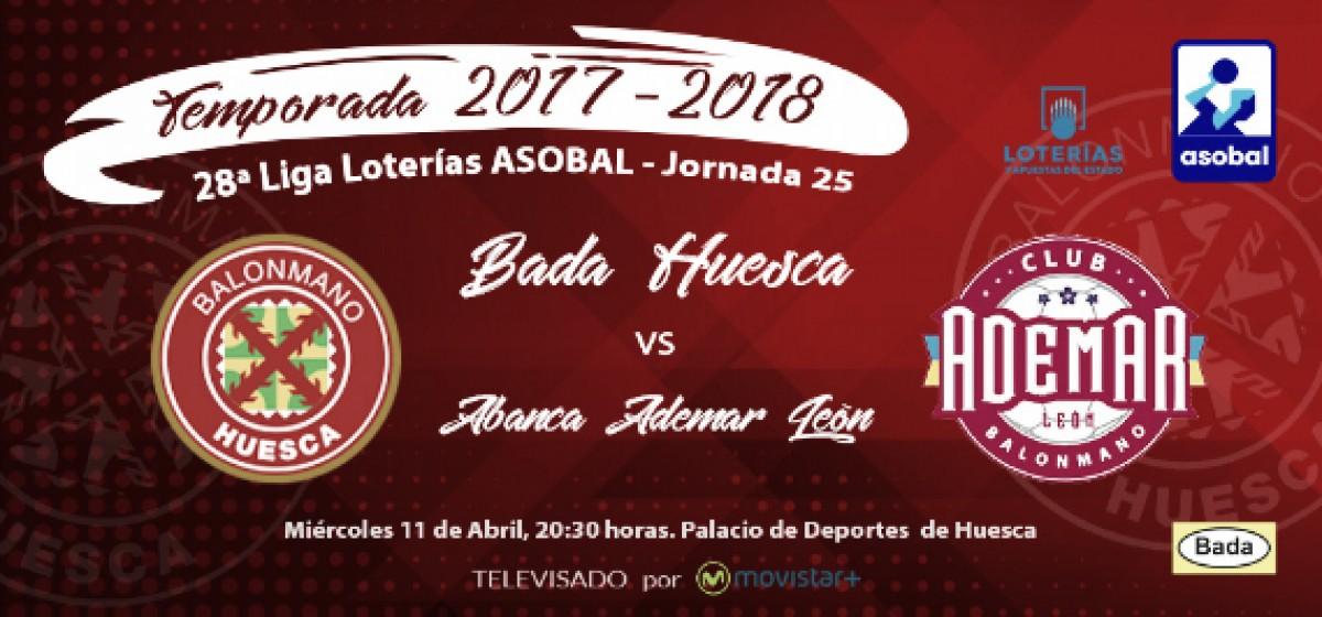 Resumen Bada Huesca (21-25) Ademar León por la jornada 25 de la Liga Loterías ASOBAL