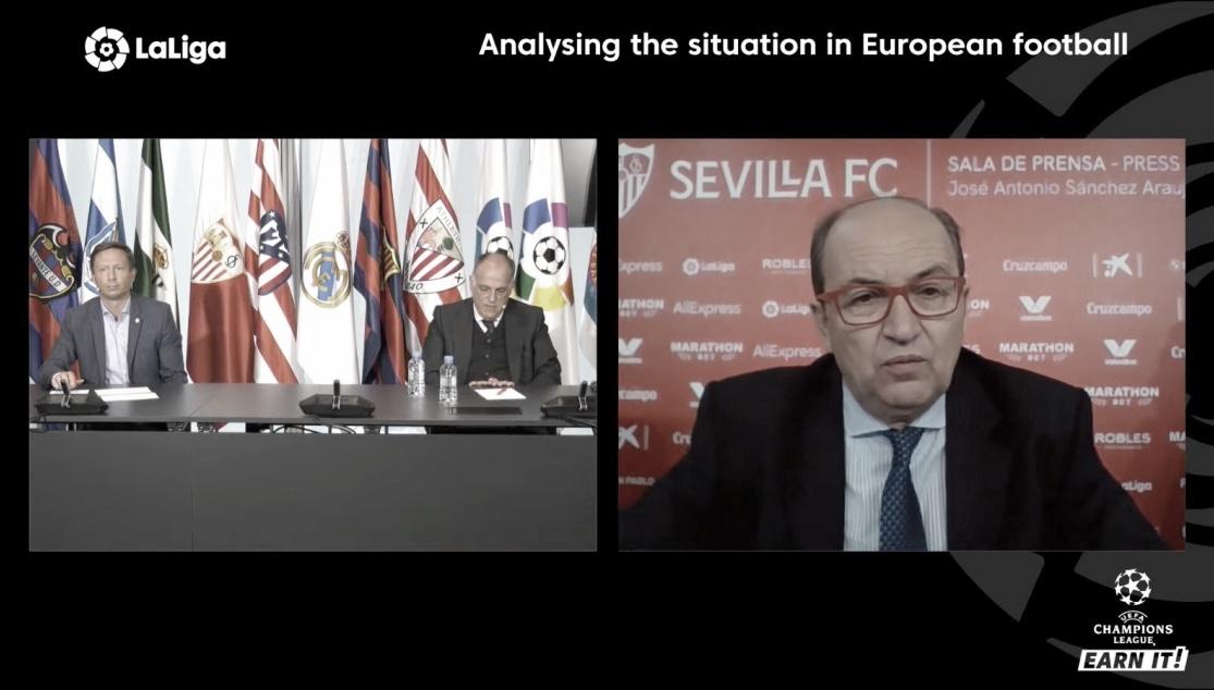 José Castro se opone a la Superliga ante los medios de comunicación