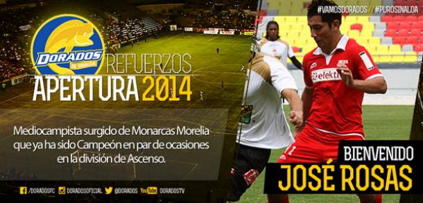 José Rosas es nuevo refuerzo de Dorados