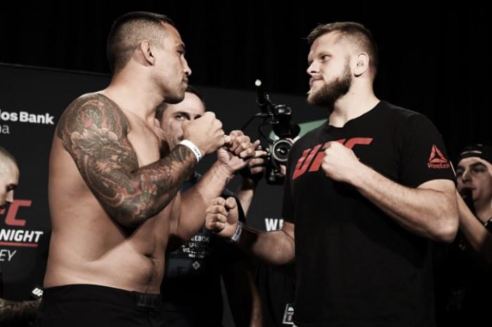 Fabrício Werdum tenta emplacar sequência de vitórias contra Marcin Tybura no UFC na Austrália